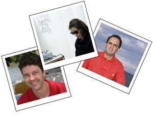 Da esquerda para a direita, os jornalistas Maurício Oliveira, Juliana Cunha e João Marcos Rainho, boas referências em jornalismo freelance